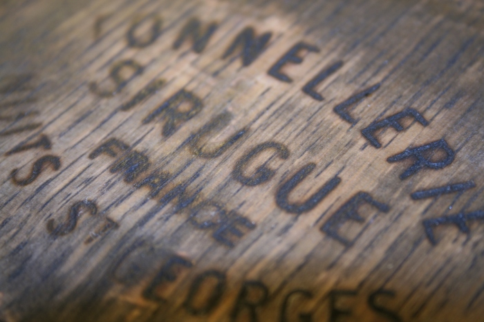 The Maker's stamp from the top of a wine barrell