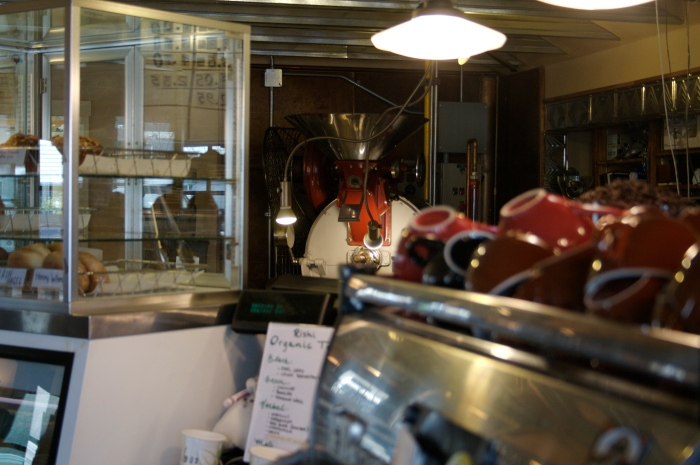 They roast their own coffee right on site.  See the roaster in the back?  Rick says it's just like Uncle Dave's.