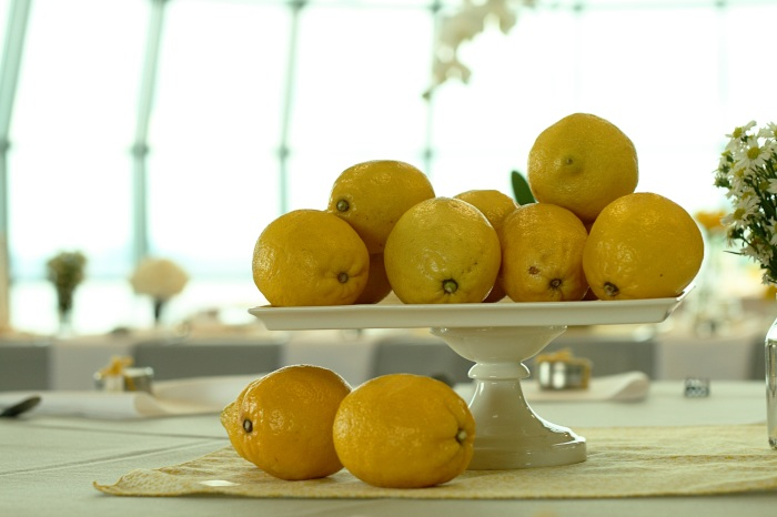 Lemons in still life